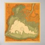1903 Historisch Meer Heilige Clair, MI ZeevaartGra Poster