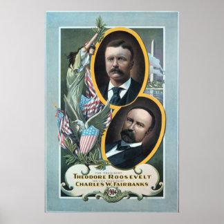 1904 de verkiezingsaffiche van Teddy Roosevelt Poster