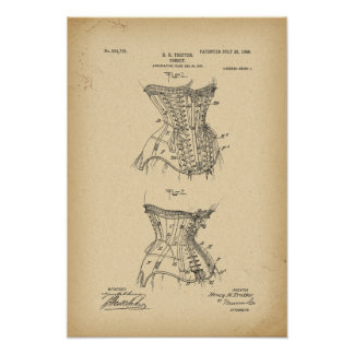 1908 het Korset van het Octrooi Poster