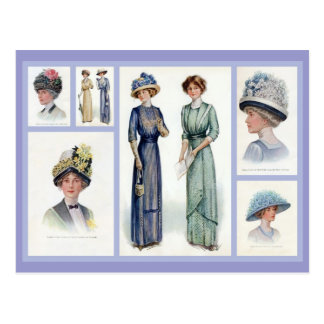 1912 het Briefkaart van de Collage van de Mode
