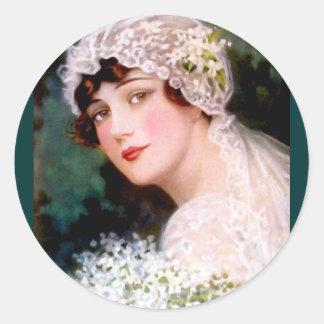 1915 Bruid Ronde Sticker