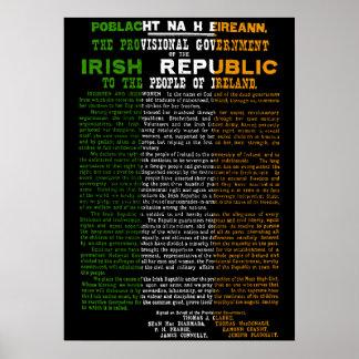 1916 het Toenemen van Pasen Poster Ierse