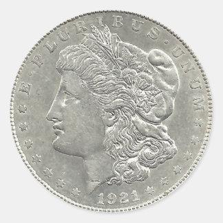1921 Sticker van de Dollar van Morgan de Zilveren