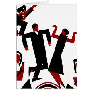 1925 het dansende paar van Deco Wenskaart
