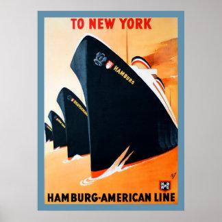 1927 Hamburg aan het Poster van het Schip van New