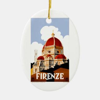 1930 het Poster van de Reis van Florence Italië Keramisch Ovaal Ornament
