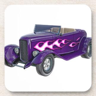 1932 Paarse Open tweepersoonsauto met Vlam Drankjes Onderzetters