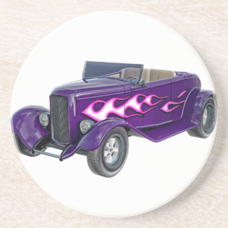 1932 Paarse Open tweepersoonsauto met Vlam Zandsteen Onderzetter