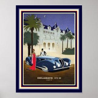 1937 de Druk 12x16 van de Reclame van Delahaye van Poster