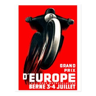 1939 Europees het Rennen van de Motorfiets van Briefkaart
