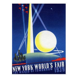 """1939 NYWF - het Briefkaart van de """"Wereld van"""