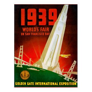 1939 Wereld Eerlijk San Francisco Briefkaart