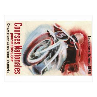 1939 Zwitsers Nationaal het Rennen van de Briefkaart
