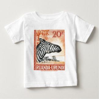 1942 de Gestreepte Postzegel van Ruanda Urundi Baby T Shirts