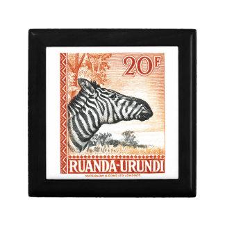 1942 de Gestreepte Postzegel van Ruanda Urundi Decoratiedoosje