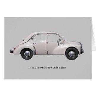 1950 de Sedan van Renault Kaart