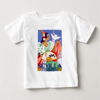 1952 het Eerlijke Poster van Sevilla Spanje April Baby T Shirts
