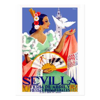 1952 het Eerlijke Poster van Sevilla Spanje April Briefkaart