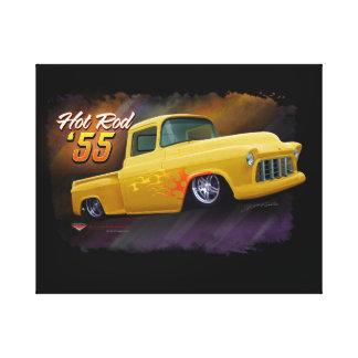 1955 Chevy vrachtwagendruk Canvas Afdrukken