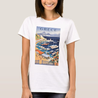 1955 de Baai van Griekenland Athene van het Poster T Shirt