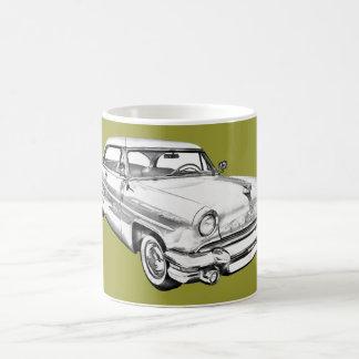 1955 de Illustratie van de Auto van de Luxe van Koffiemok
