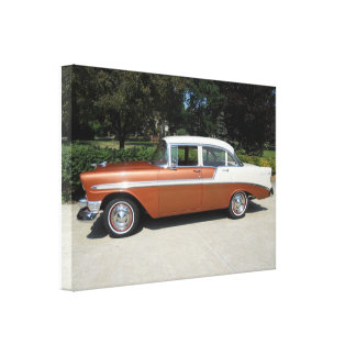 1956 Bel Air 4 van Chevrolet de Sedan van de Deur Canvas Print