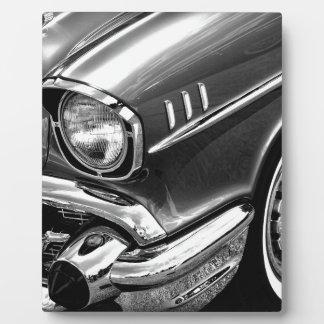 1957 Zwart & het Witte Bel Air van Chevrolet Fotoplaat
