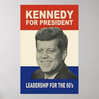 1960 Kennedy voor het Poster van het President (to
