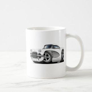 1961 de wit-Zilveren Auto van het Korvet Koffiemok