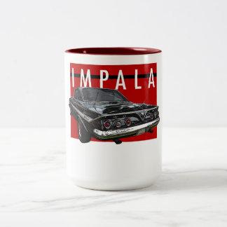1961 de Zwarte Bel Top Rear ViewA van de Impala Tweekleurige Koffiemok