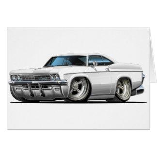 1965-66 de Witte Auto van de Impala Kaart