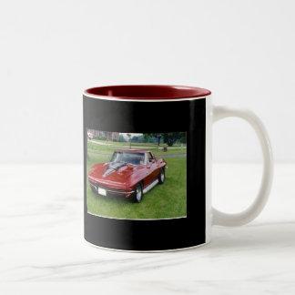 1965 de Pijlstaartrog van het Korvet Tweekleurige Koffiemok