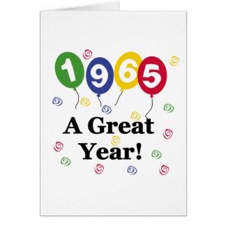1965 een Grote Verjaardag van het Jaar Wenskaart