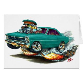 1966-67 de Blauwgroen Auto van de Nova Wenskaart