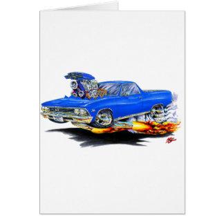 1966 de Blauwe Vrachtwagen van Gr Camino Wenskaart