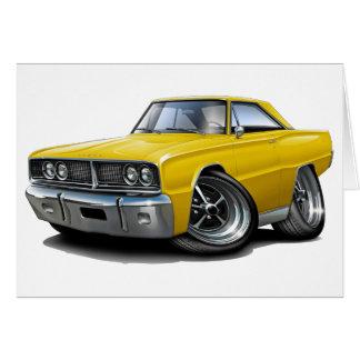 1966 de Gele Auto van de Kroon Wenskaart