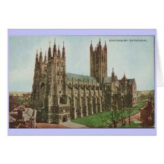 1966 de Vintage Kathedraal van Canterbury van het Wenskaart