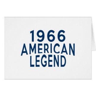 1966 het Amerikaanse Design van de Verjaardag van Wenskaart