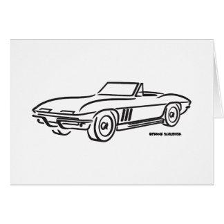 1966 het Korvet van Chevrolet Wenskaart