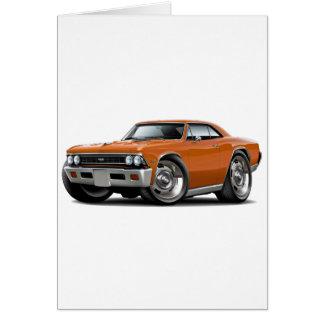 1966 Oranje Auto Chevelle Wenskaart
