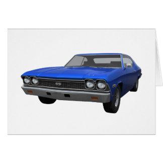1968 Chevelle SS: Blauw eindig Briefkaarten 0