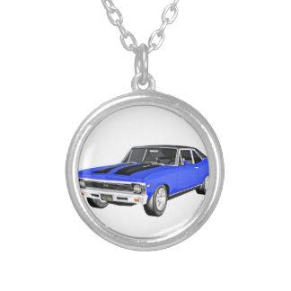 1968 de Blauwe Auto van de Spier Zilver Vergulden Ketting