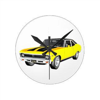 1968 de Gele Auto van de Spier Ronde Klok