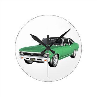 1968 de Groene Auto van de Spier Ronde Klok