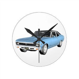 1968 de Lichtblauwe Auto's van de Spier Ronde Klok