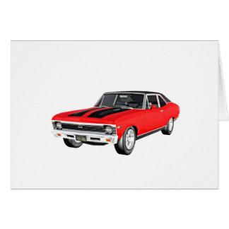1968 de Rode Auto van de Spier Kaart