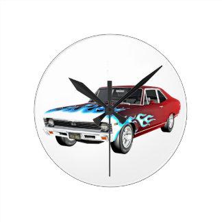 1968 de Rode Witte en Blauwe Auto van de Spier Ronde Klok
