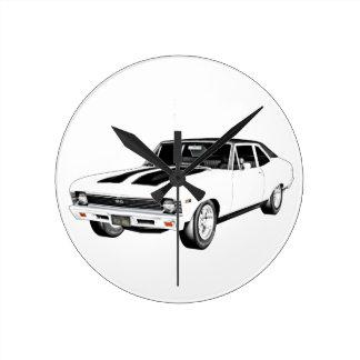 1968 de Witte Auto van de Spier Ronde Klok