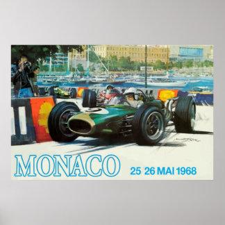 1968 het Poster van de Grand Prix van Monaco (Druk