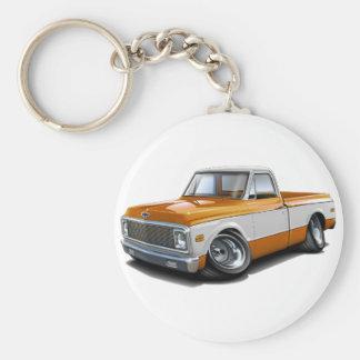 1970-72 C10 de Vrachtwagen van het oranje-Wit Chev Sleutelhanger